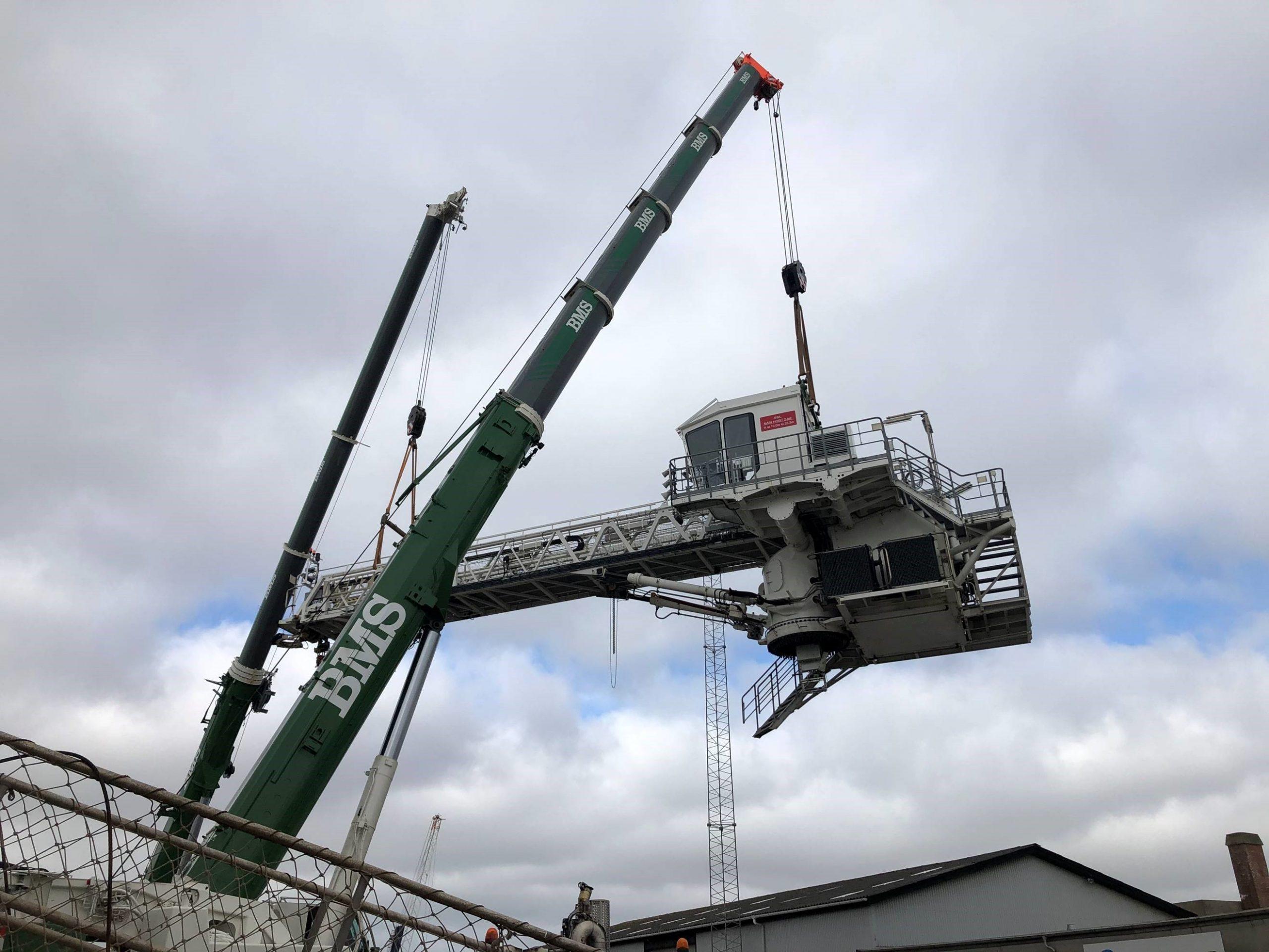 Increased pedestal installation 4.5m